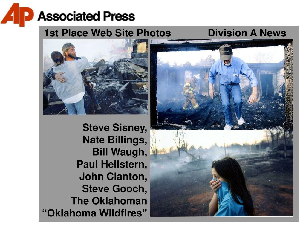 1st Place Web Site Photos             Division A News