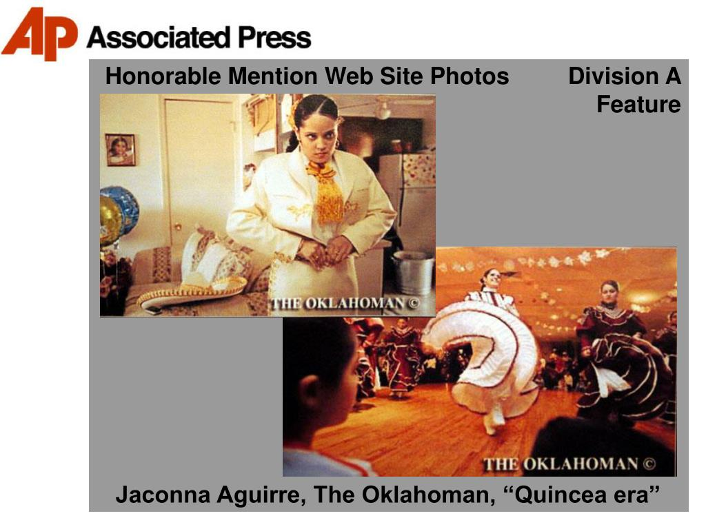 Honorable Mention Web Site Photos         Division A Feature