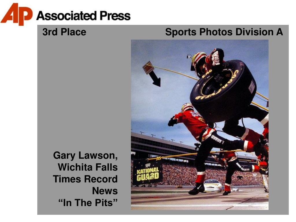3rd Place                             Sports Photos Division A