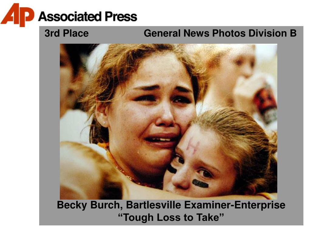 3rd Place                    General News Photos Division B