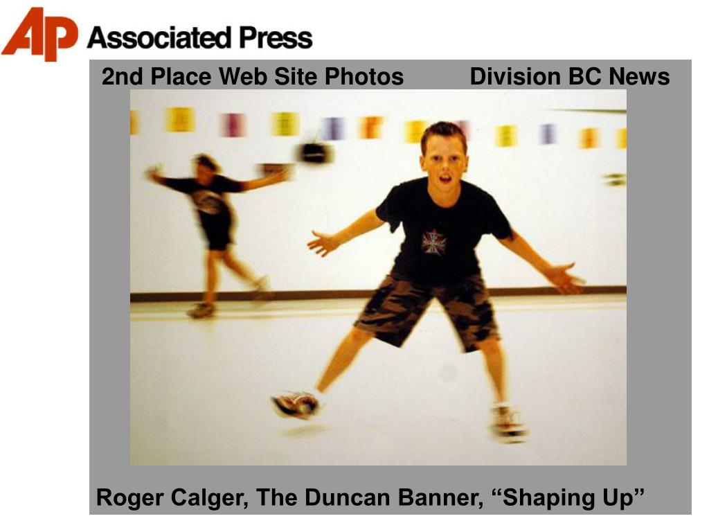 2nd Place Web Site Photos          Division BC News