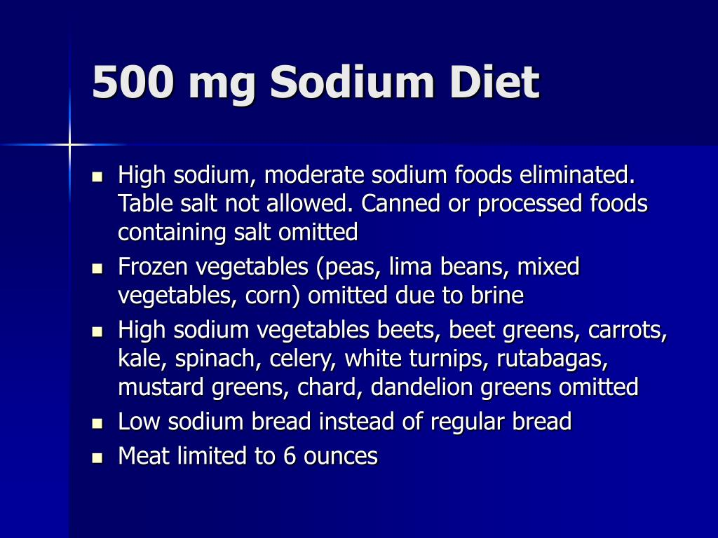 500 mg Sodium Diet