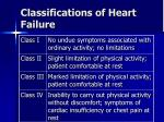 classifications of heart failure