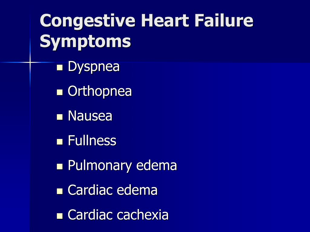 Congestive Heart Failure Symptoms