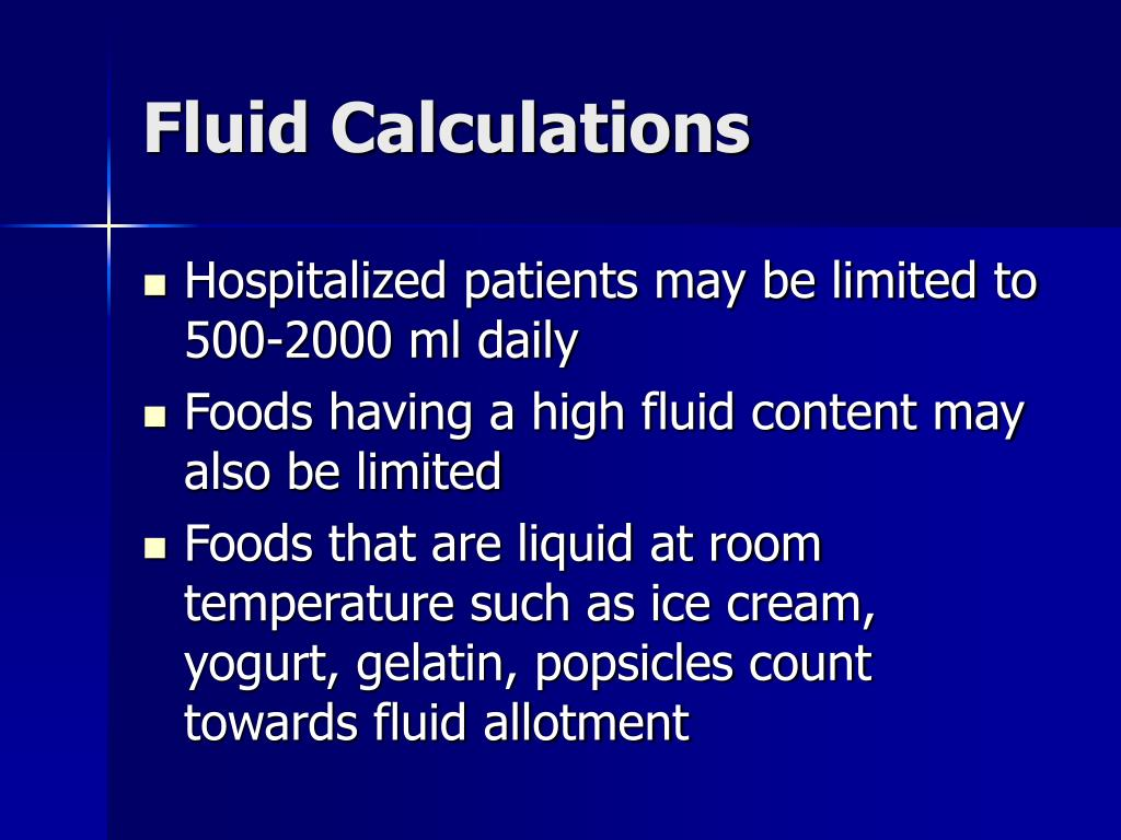 Fluid Calculations
