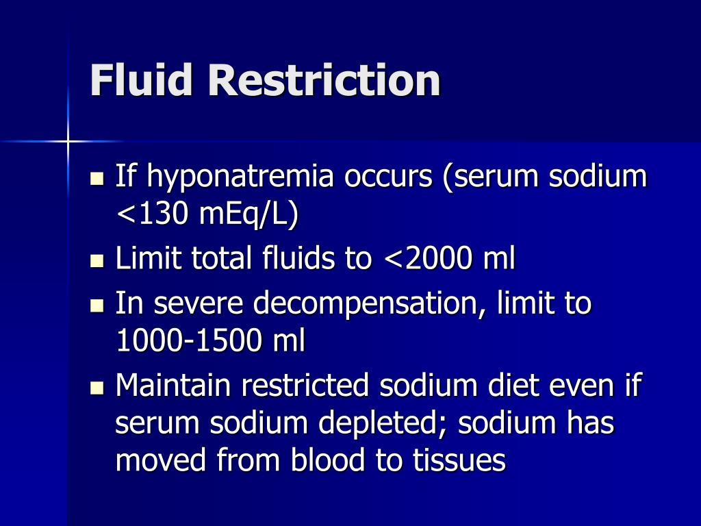 Fluid Restriction