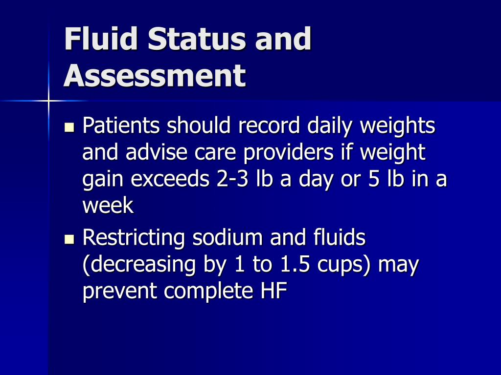 Fluid Status and Assessment