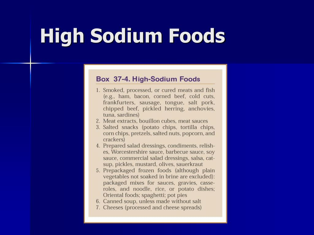 High Sodium Foods