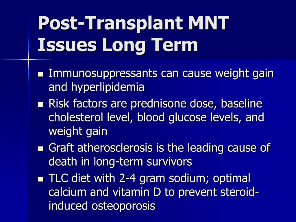 Post-Transplant MNT Issues Long Term