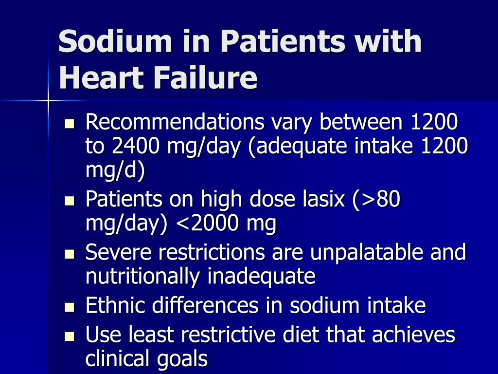 Sodium in Patients with