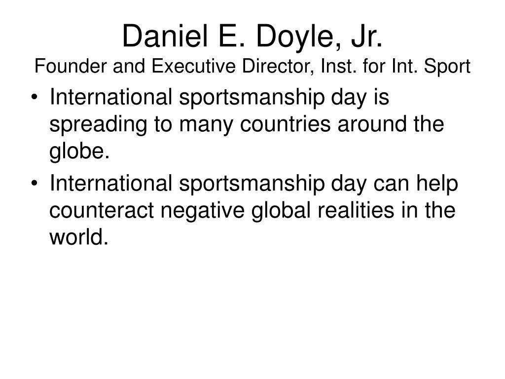 Daniel E. Doyle, Jr.