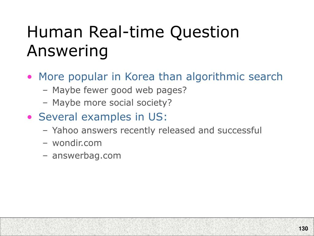 Human Real-time Question Answering