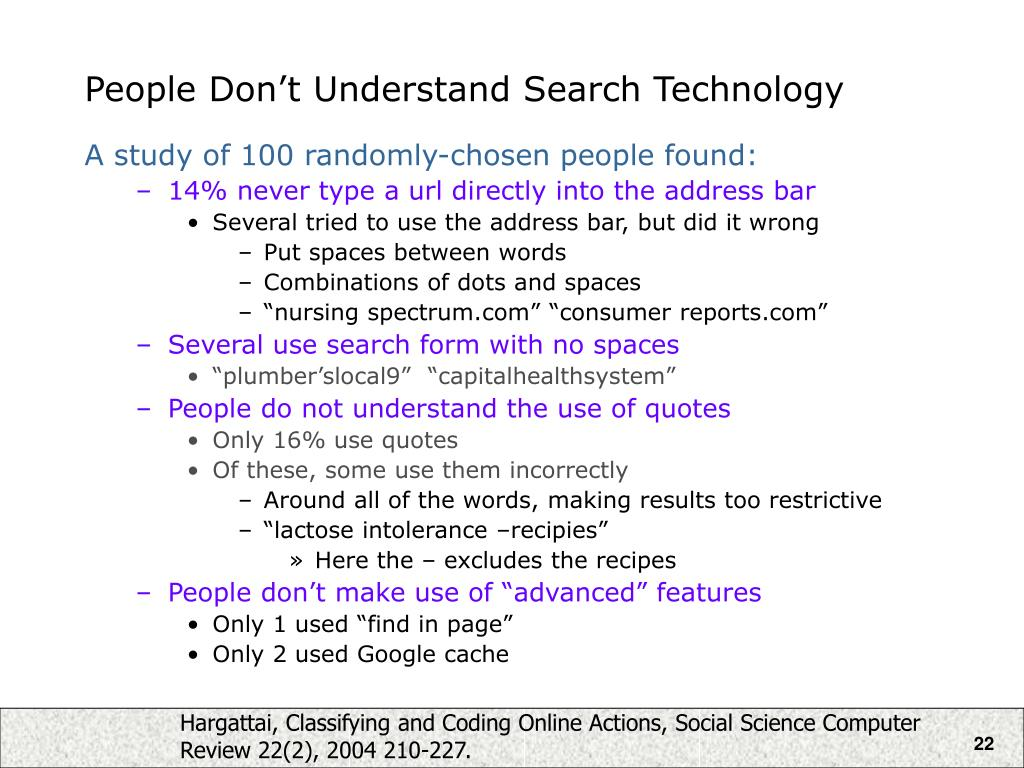 People Don't Understand Search Technology