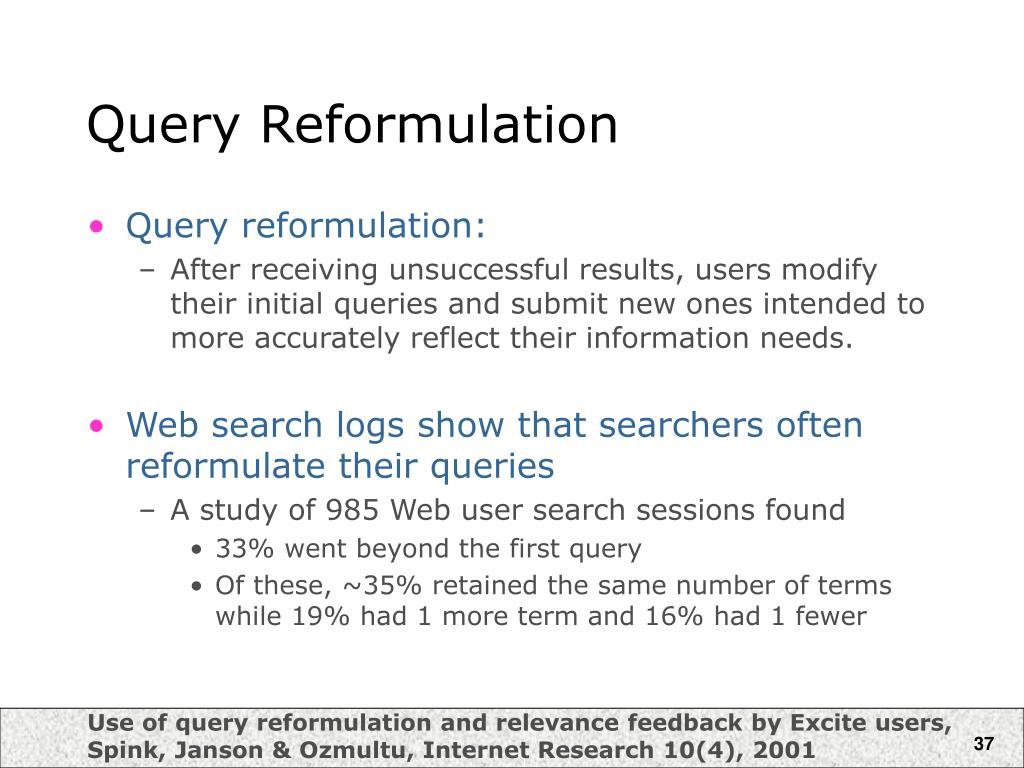 Query Reformulation