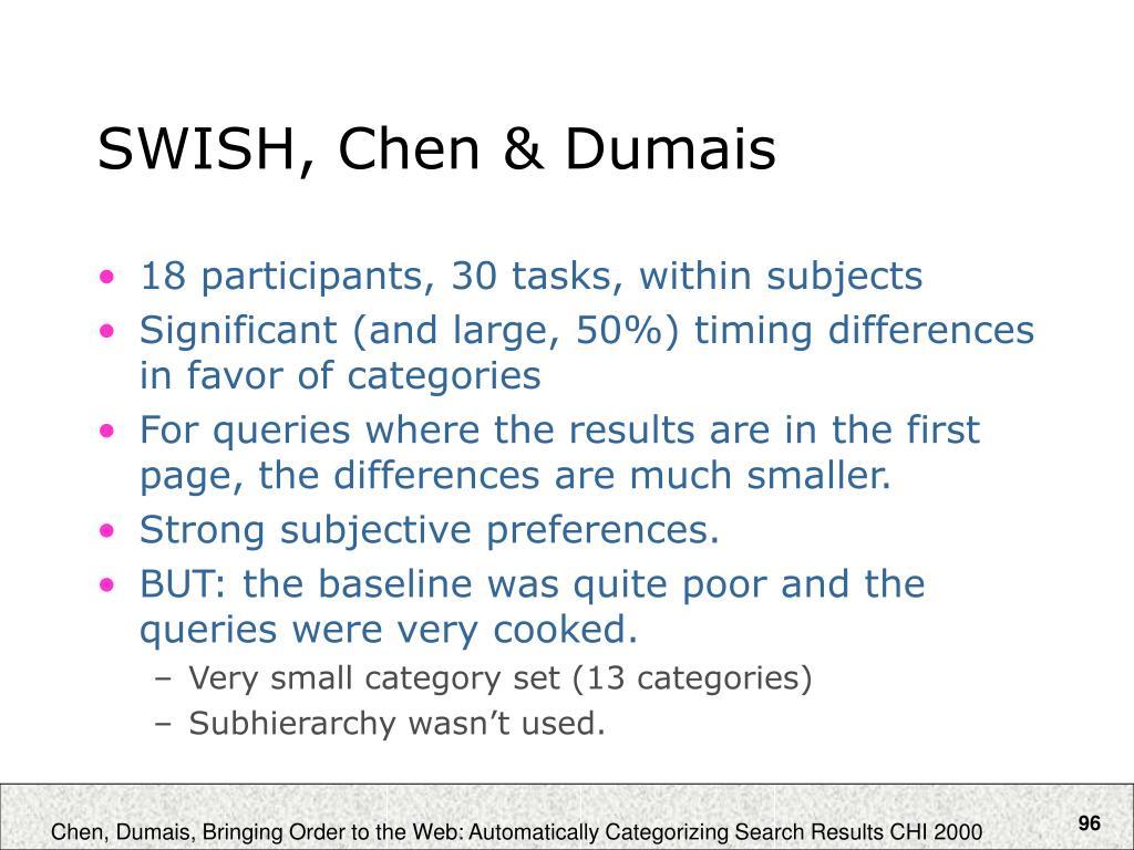 SWISH, Chen & Dumais