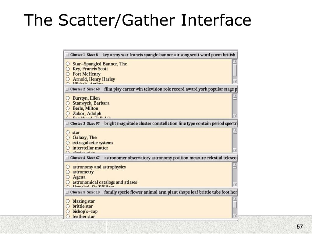 The Scatter/Gather Interface