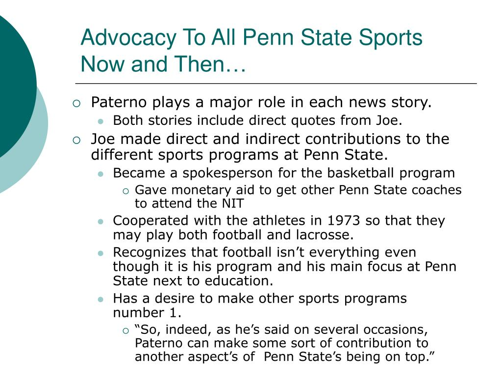 Advocacy To All Penn State Sports Now and Then…
