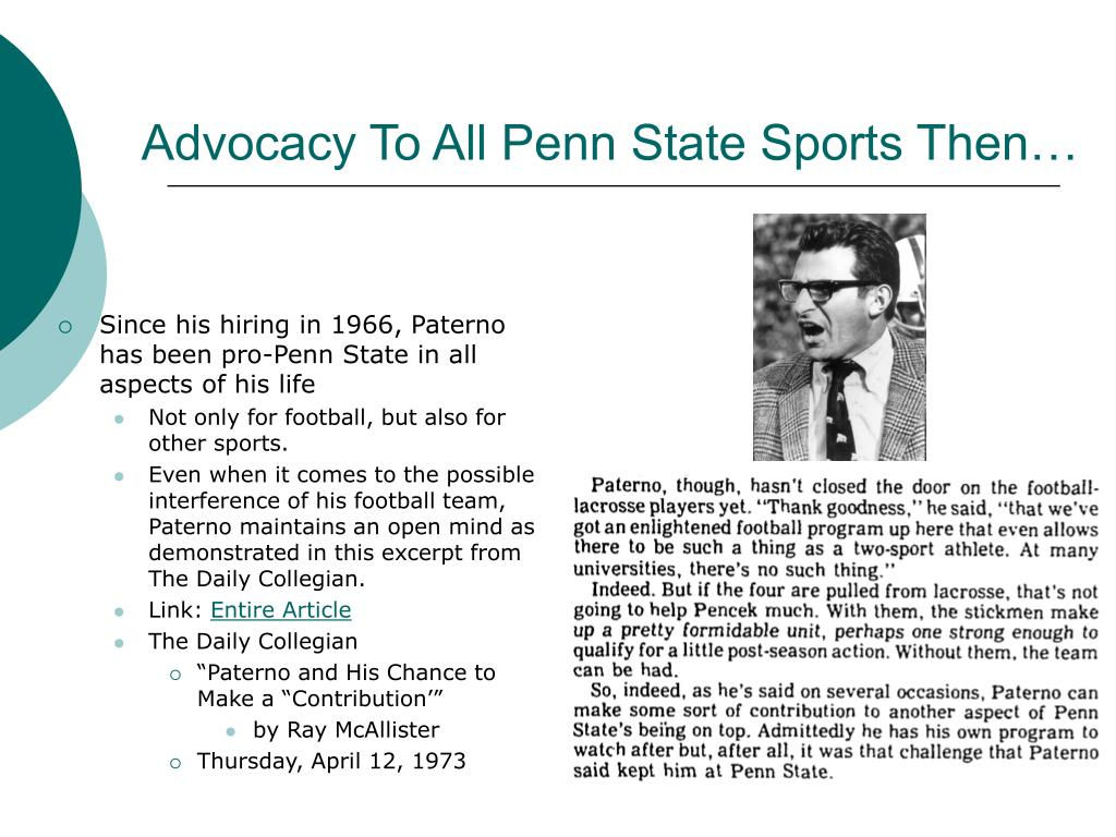 Advocacy To All Penn State Sports Then…