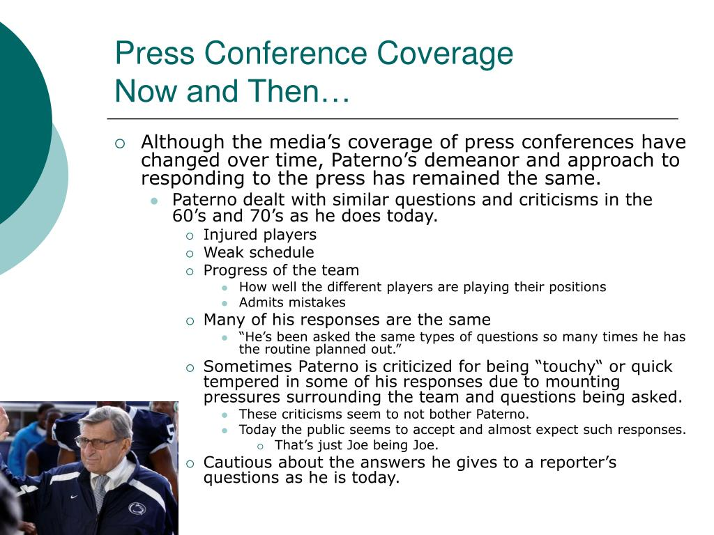 Press Conference Coverage