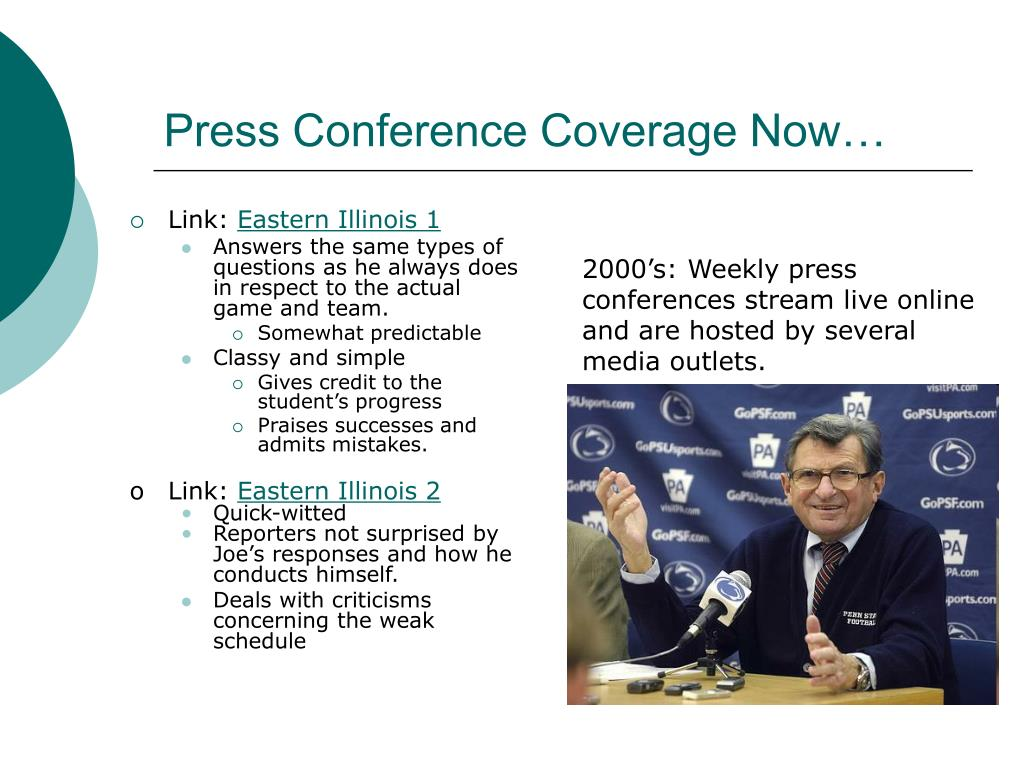 Press Conference Coverage Now…