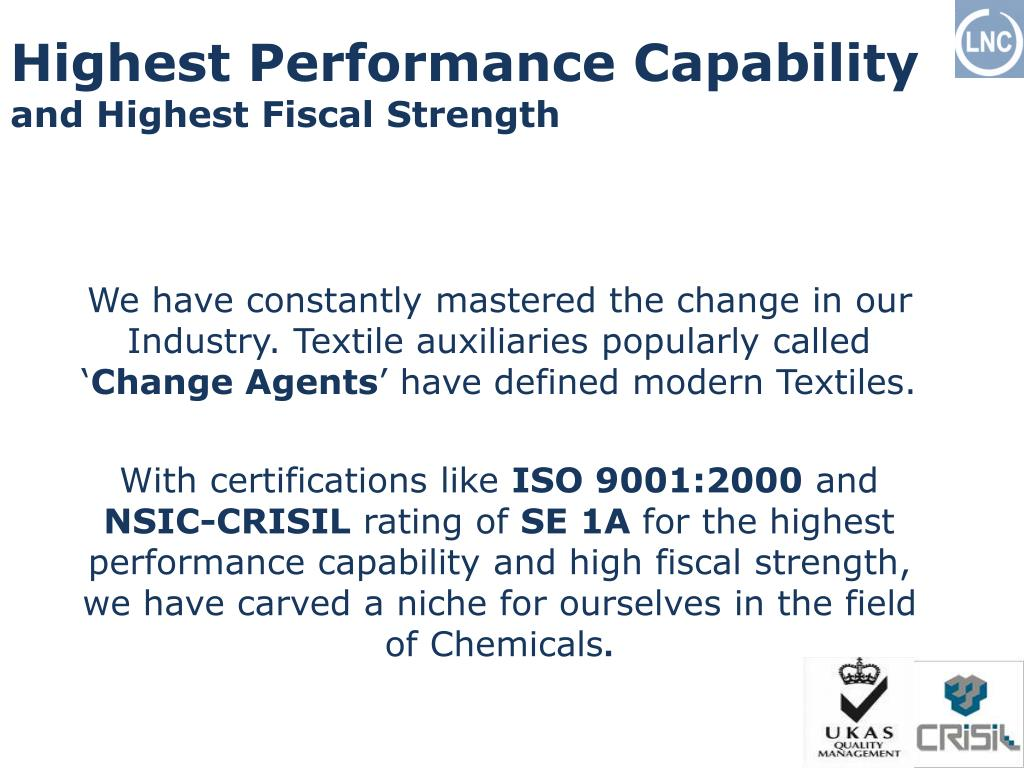 Highest Performance Capability