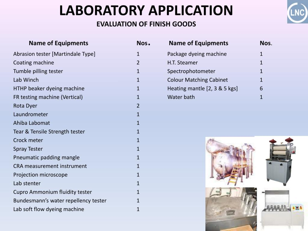 LABORATORY APPLICATION