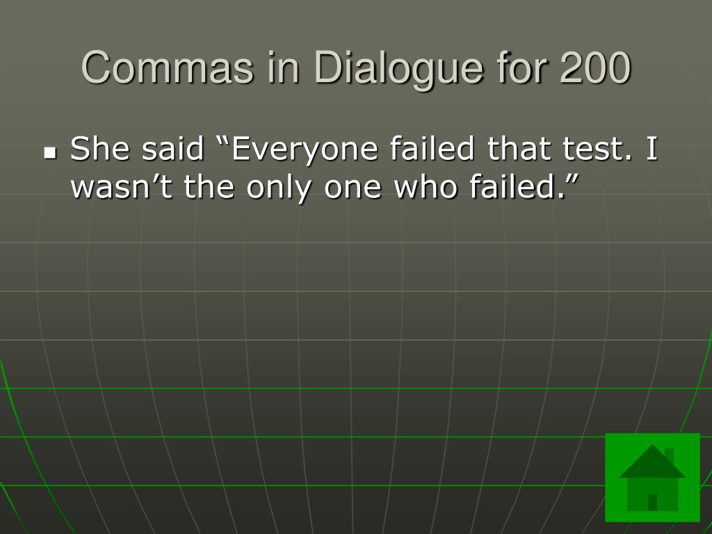 Commas in Dialogue for 200