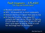 fault diagnostic 3 flash two stage and variable speed