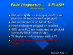 fault diagnostics 3 flash single stage