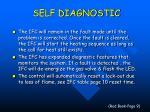 self diagnostic