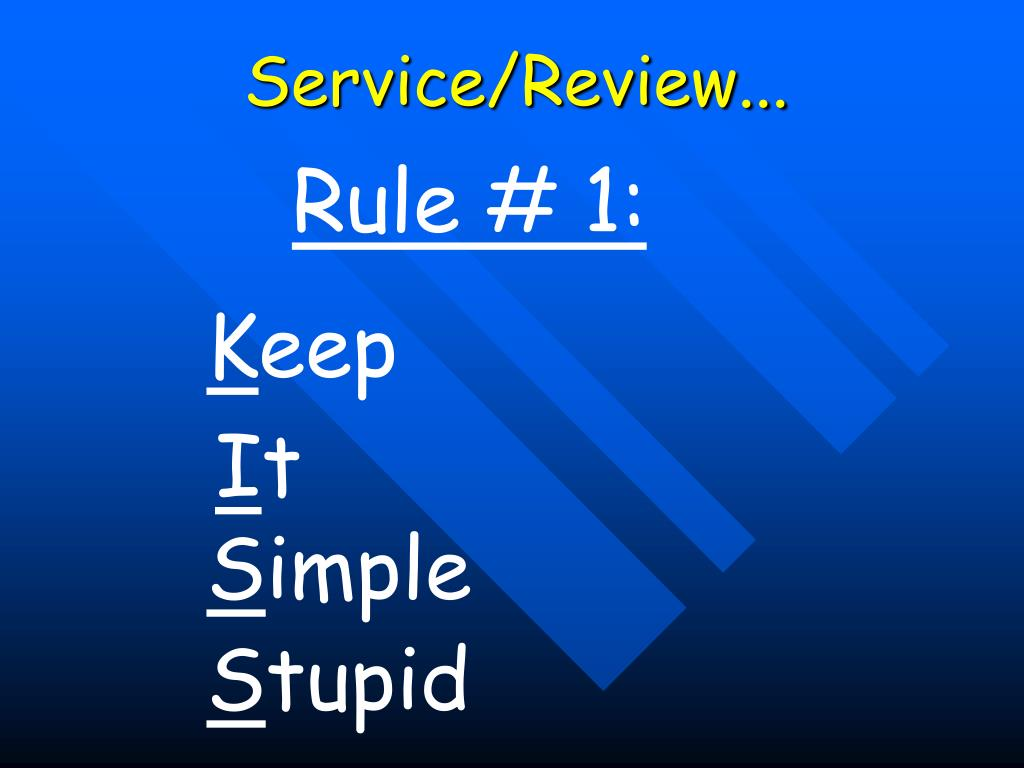 Service/Review...