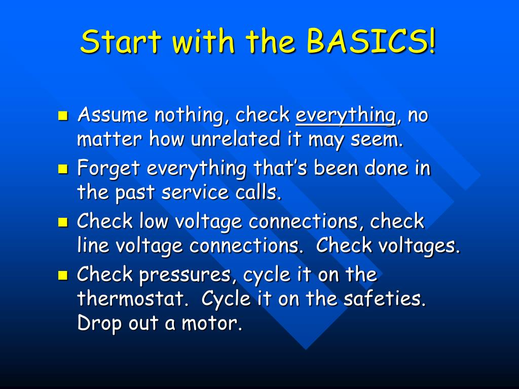 Start with the BASICS!