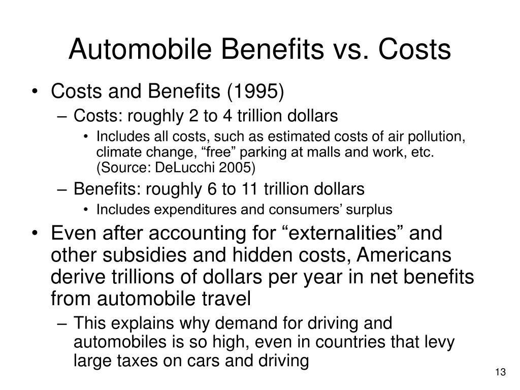 Automobile Benefits vs. Costs