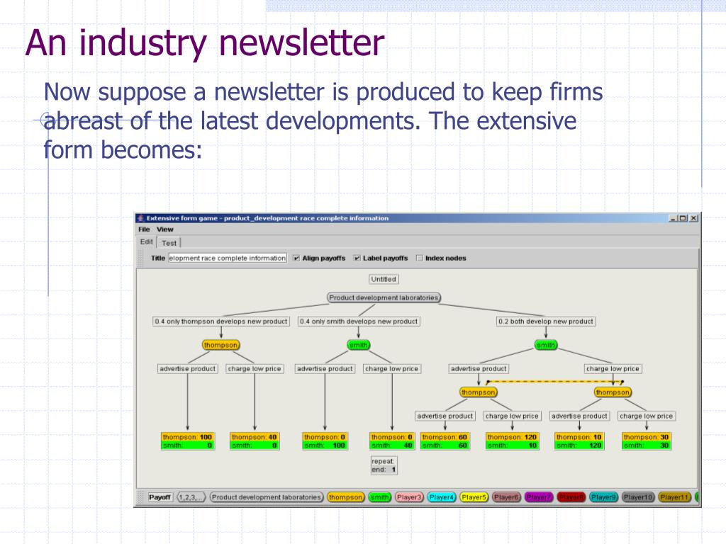 An industry newsletter