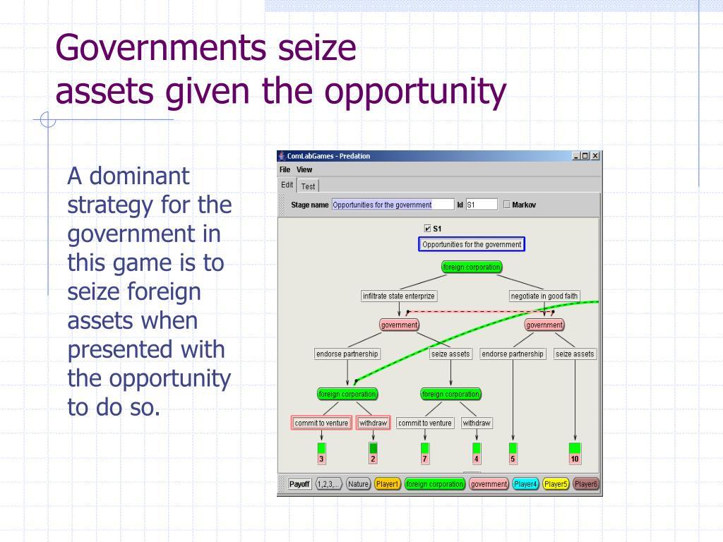 Governments seize