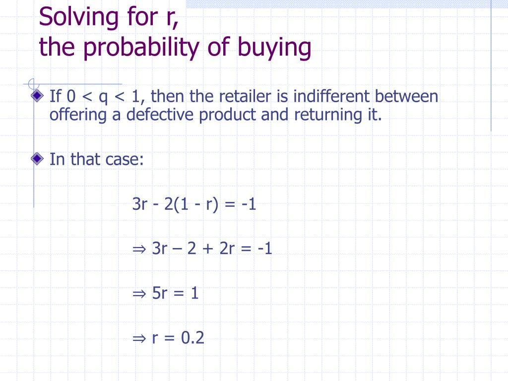 Solving for r,