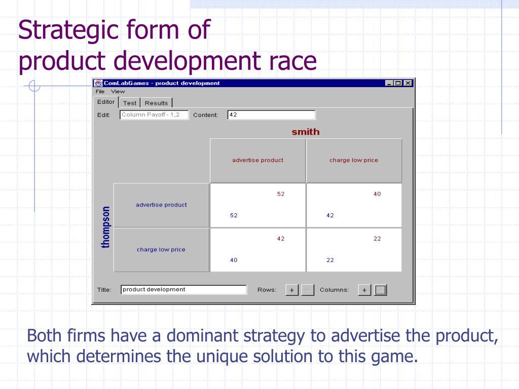Strategic form of