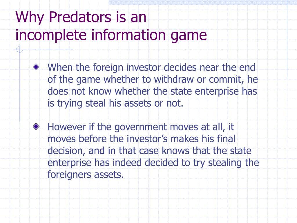Why Predators is an