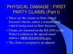 physical damage first party claims part i