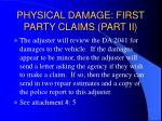 physical damage first party claims part ii