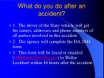 what do you do after an accident