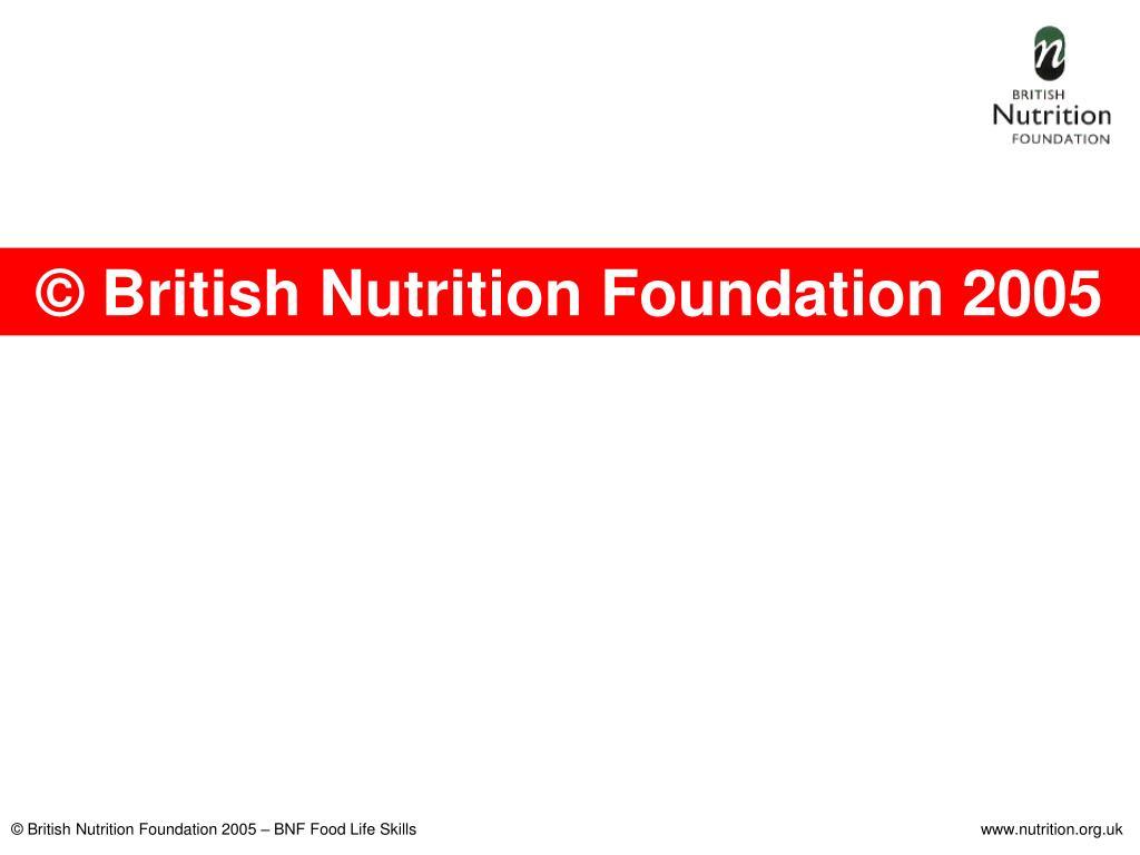 © British Nutrition Foundation 2005