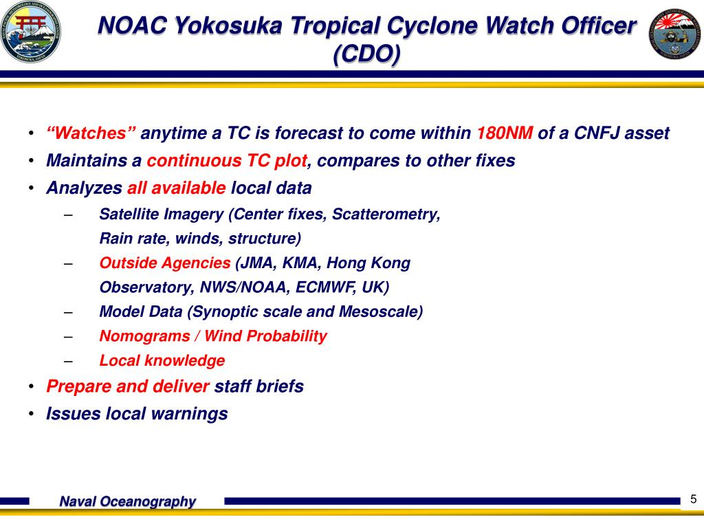 NOAC Yokosuka Tropical Cyclone Watch Officer