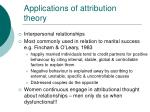 applications of attribution theory23