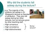 why did the students fall asleep during the lecture