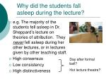 why did the students fall asleep during the lecture13