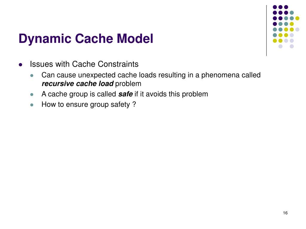 Dynamic Cache Model