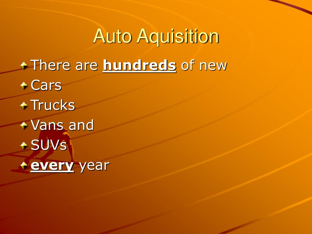 Auto Aquisition