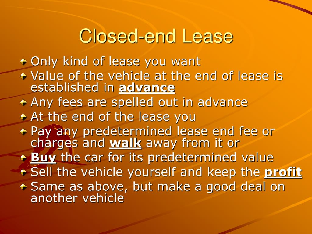 Closed-end Lease
