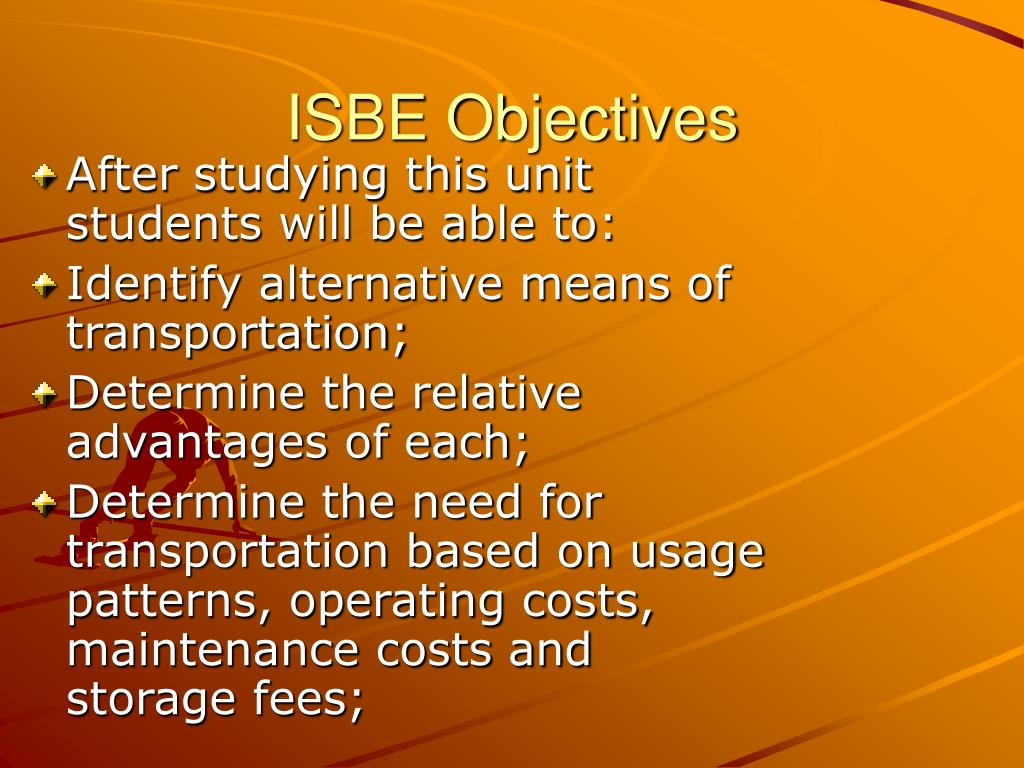 ISBE Objectives